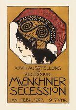 Franz von Stuck Münchner Secession XXVIII Ausstellung Plakat Büttenfaksimile 5