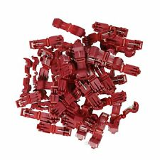 100X Red 22-18 AWG Scotch Lock T-Tap Car Audio Electronic Connectors Terminals