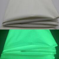 A4 Nacht Leuchtend Baumwoll Stoff Handwerk Quilten Farben Plain Sheet DIY Tuch
