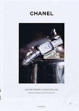 PUBLICITE ADVERTISING 064 2010 CHANEL Montre première et bracelet ultra