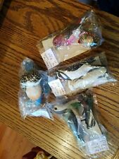 4 Danbury Mint Songbird Christmas Ornaments