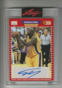 2021 Leaf Pro Set Sports SHAQUILLE O'NEAL Los Angeles Lakers  AUTO 16/25 made