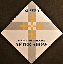 * Slayer * - Satin Backstage Pass - After Show - God Hates The World Tour