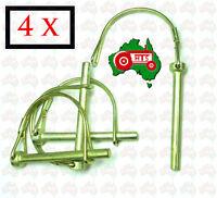 "4 x 1/4"" 6 mm Shaft Lynch Linch Retaining Lock Clip Pin D Caravan 4X4 Tractor"