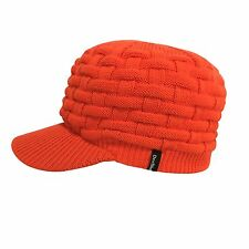 Waterproof Windproof Peaked Beanie Hat Blaze Orange Warm Winter Safety Hunting
