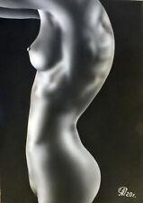 Dibujo de una niña desnuda # 104. Aerografía.