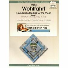 Franz Wohlfahrt's Foundation Studies for The Violin Book 1 With DVD