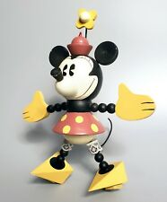 Rare 1990s Minnie Mouse Hanging Figure, Handmade Wood & Wire, Classic Disney