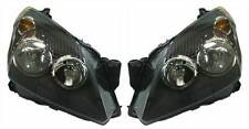 Vauxhall Astra H Mk5 2004-2007 Black Front Headlight Headlamp Pair Left & Right