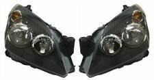 Vauxhall Astra H Mk5 2004-2007 Black Front Headlight Headlamp Pair Left & Right
