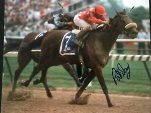 1992 Kentucky Derby Winner Lil E. Tee Signed by Pat Day 8x10 with COA