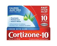 Cortizone 10 Maximum Strength Aloe Anti-Itch Crème 28g 1oz FAST AND FREE POSTAGE