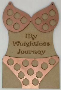 Rose Gold Bikini Body Weight Loss Journey Reward Plaque, lb for pound, Holiday W