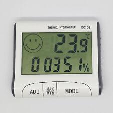 Termometro Igrometro Digitale orario Temperatura Umidità Portatile DC102 Casa