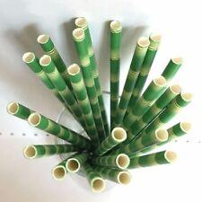 High Quality Paper Jungle Safari 25pcs Straws Bamboo Panda Party