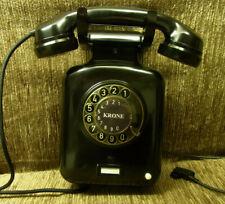 Telefon  KRONE W51mT Wandtelefon Bakelit  Telephone  TOP!
