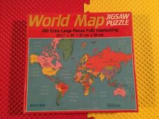 Vintage 1984 Golden 300 Extra Large Piece World Map Jigsaw Puzzle New Sealed