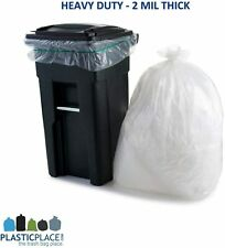 Wheeled Trash Can Lid Garbage Container Waste Outdoor Basket Bin 95-96 Gallon