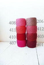 Crochet Thread collection-100% Lace/Fingering Linen Thread- red mix