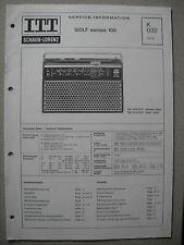 ITT/Schaub Lorenz Golf europa 105 Service Manual, K032