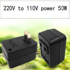 50W AC Power 220V To 110V Voltage For Travel Converter Black Best Adapter N E8V8