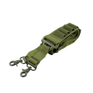 Two Point Shotgun Sling Strap with 15 Rounds 12 GA Shell Ammo Bandolier Holder