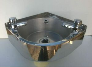 corner wall mounted stainless steel hand wash basin sink 320C