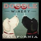 FRAMED Doodle Winery California by Ryan Fowler 12x12 Art Print Wine Labradoodle