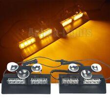 "15"" 2in1 LED Windshield Light Bar Dash Emergency Hazard Warn Flash Strobe Amber"