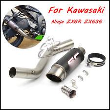 For Kawasaki Ninja ZX6R ZX636 2009-2017 Exhaust Muffler Pipe Connecting Mid Pipe