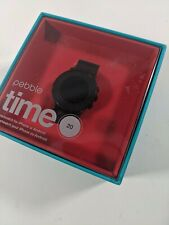 Pebble Time Round Smartwatch 20mm Black - New Open Box