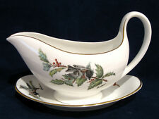 Boehm Chickadees Chickadee and Holly Gravy Boat and Under Plate