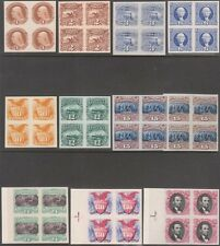 #112P3-122P3; #129P3 XF-SUPERB BLKS/4 PLATE PROOFS ON INDIA SUPERB WL5881