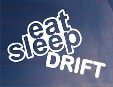 EAT SLEEP DRIFT Lustiger EURO JDM RWD Auto/Fenster/Stoßstange/Laptop