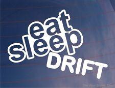 EAT SLEEP DRIFT Lustiger EURO JDM RWD Auto/Fenster/Stoßstange/Laptop