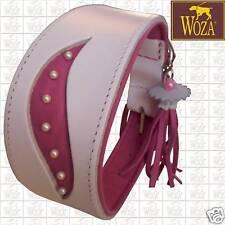 WOZA Premium Windhund Halsband Vollleder Greyhound Rindnappaleder Galgo G91616