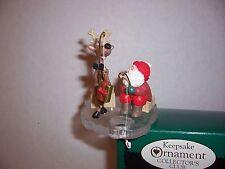 "Hallmark Christmas Ornament: ""Fishing For Fun"" - (Collector's Club - 1995)"