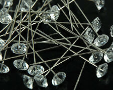 "2"" Clear Diamond Diamante Corsage and Bouquet Pins Pack of 144 Count"