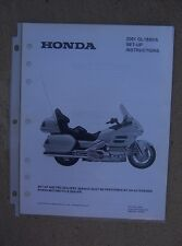 2001 Honda Motorcycle GL1800/A Set Up Instruction Manual with Wiring Diagram L