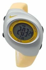 New Nike Kids Triax Junior WR0017 Ice Cream Yellow and Silver Digital 38mm Watch
