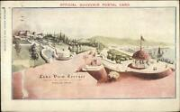 Portland OR Lewis Clark Expo Lake View Terrace World's Fair Cancel Postcard