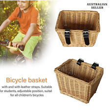 Outdoor Bicycle Basket Environmentally Friendly Handwoven Willow Square Bicycle