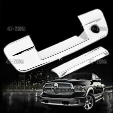 For 09-15 Dodge Ram Chrome ABS Plastic Tailgate Handle Cover Cap With Keyhole