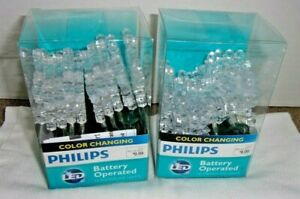 Philips Color Changing 2 Packs 10 (20) Snowflake Lights NEW IN BOX