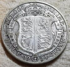 1924 King George V Silver Half Crown Coin Lot 5