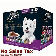CESAR CANINE CUISINE VARIETY DOG FOOD - 3.5 OZ - 40 PK. FORMULATED FOR SMALL DOG