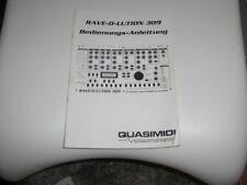 Bedienungsanleitung-Manual, FÜR RAVE O LUTION 309 IN DEUTSCH