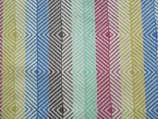 Harlequin Curtain Fabric EZRA 0.9m Hyacinth/Aubergine Chevron Stripe - VELVET