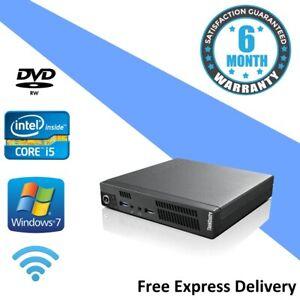 Lenovo M72e TINY - Windows 7 PC - Core i5-3470T | 4GB | 500GB | WiFi | DVD RW