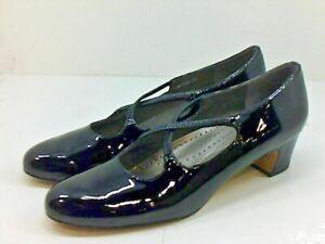 "Trotters JAMIE Black Patent Leather Classic Pumps 1 3/4"" Heel 9N Excellent"